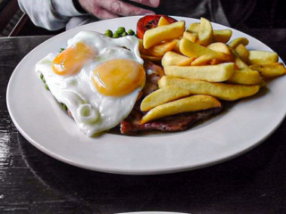 Fox & Goose Coombe Bissett Gammon Eggs and Chips