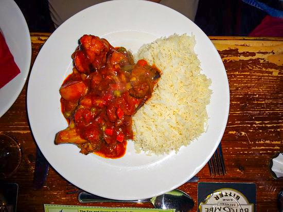 Fox & Goose Coombe Bissett Vegetarian Curry